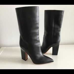 Valentino Shoes - VALENTINO ROGUE BLACK POINTED TOE BOOTS, SIZE 37