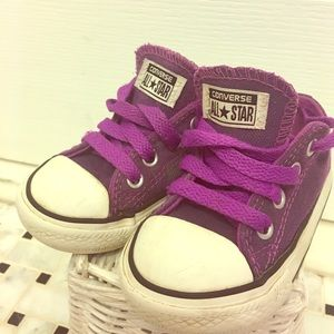 Converse Other - Purple lace up Toddler converse