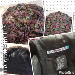 REQUIREMENTS Jackets & Blazers - REQUIREMENTS paisley jacket size XL BB