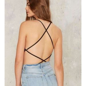 Nasty Gal strappy body suit