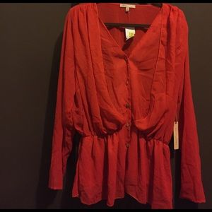 Gibson Latimer Red Blouse