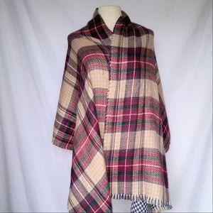 Vintage Accessories - REVERSIBLE Blanket Scarf Shawl