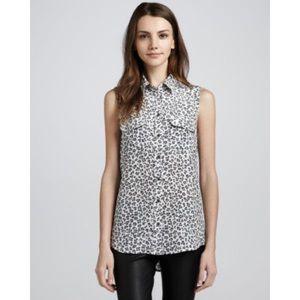 Equipment Tops - • EQUIPMENT • leopard print sleeveless top