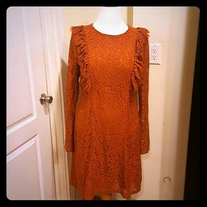 Alice & You Dresses & Skirts - Pumpkin or rust color lace dress