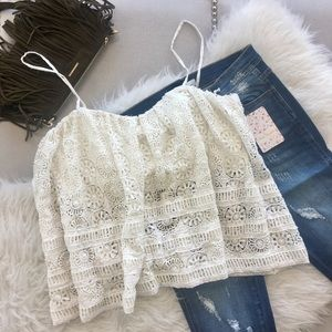 Free People Sydney Lace Tube Top