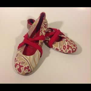 Gola Shoes - Gola Strappy Flats Print Fabric Sz8 CUTE