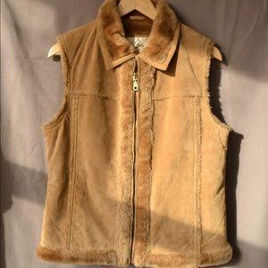 Vintage D' Carlo Genuine Suede Vest, M
