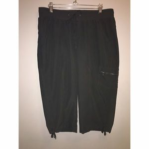 Ladies Tek Gear Nylon Crop Pants Sz Large