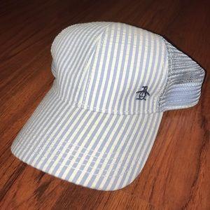 Original Penguin Other - Penguin Light Blue/White Striped Hat.