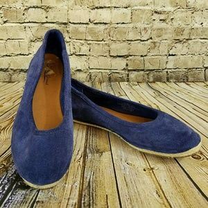 NEW Lucky Brand Cancun Suede Espadrille