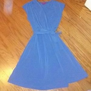 Flowing blue dress