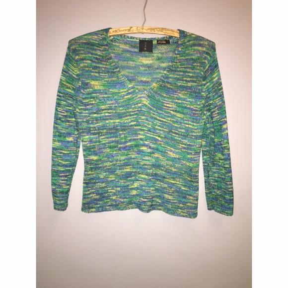 Sweaters - Green M A G Silk Sweater Sz Small