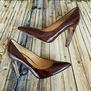 Topshop 'Gallop' Patent Pointy Toe Pump