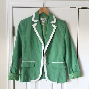 Chadwicks Jackets & Blazers - 🍀 Green and white blazer