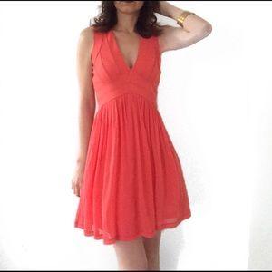 TOPSHOP Orange Dress size 6