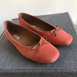 Paul Green Shoes - Paul Green Suede Ballet Flats w/Leather Trim