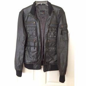 7 Diamonds Other - 7 Diamonds Men's Dark Brown Leather Jacket