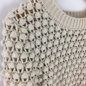 Lucca Couture Sweaters - Lucia Couture bubble knit cream pullover sweater