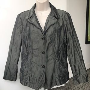 Luciano Barbera Jackets & Blazers - Luciano Barbera Metallic Sheen Button Front Jacket