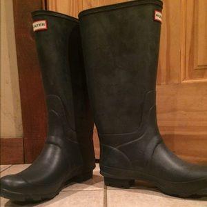 Hunter Boots Shoes - Blue matte navy Hunter Rain Boots