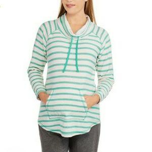 Danskin Now Tops - EUC Striped Cowl-Neck sweatshirt