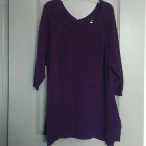 Lane Bryant Tops - 3/4 sleeve sweater tunic 2X/3X