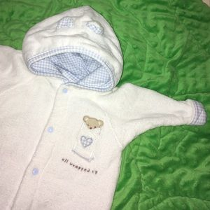 Vitamins Baby Other - Snuggly Button-up Hooded Bath Robe