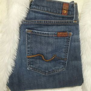 7 For All Mankind Denim - 7 for all mankind bootcut signature jeans size 27