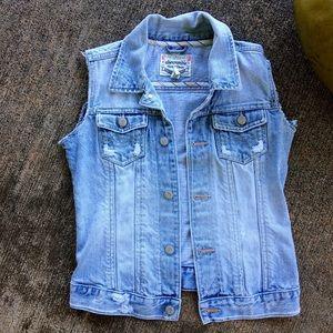 Abercrombie & Fitch Jackets & Coats - VINTAGE DENIM VEST