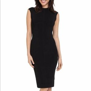 TED BAKER Jirad Black Tailored Stretch Shift Dress