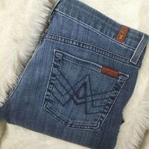 7 For All Mankind Denim - 7 for all mankind A Pocket Bootcut Jeans Size 27
