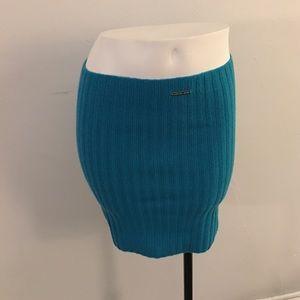 ✨Teal Michael Kors ribbed sexy skirt
