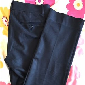 J. Crew favorite fit - black straight leg trousers