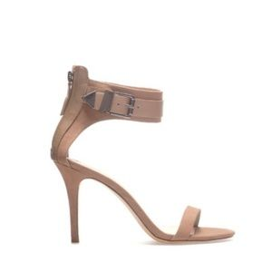 Zara Shoes - Zara Ankle Strap Heels in Nude