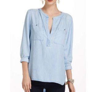 Anthropologie Tops - Anthropology, Cloth & Stone Chambray / Denim Top