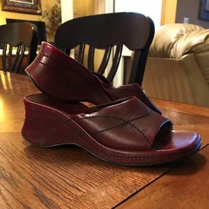 Nine West Leather Wedge Sandals
