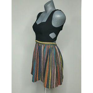 Nameless Dress Black Ethnic Print Size M
