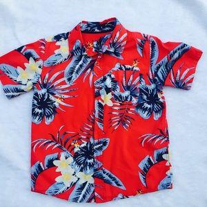 Other - Hawaiian print boys shirt