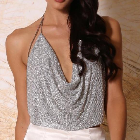 fa4bb8f65b7e1 Meshki boutique Alia crystal top. M 58b18059620ff797b9021570