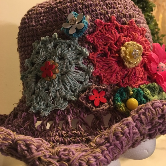 Accessories - Lavender Hat w/embroidered designs