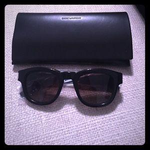 Saint Laurent Bold 2 Sunglasses in Black