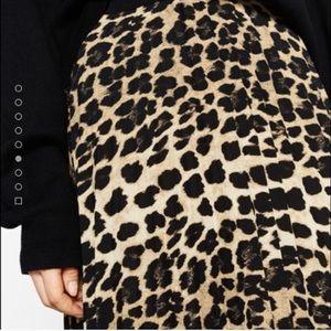 Zara Dresses & Skirts - 🆕Zara animal print fine pleated skirt