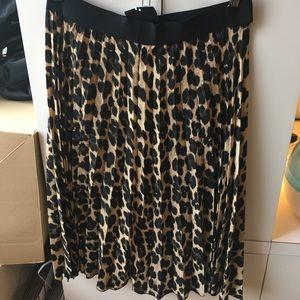 d107a52a Zara Skirts | Animal Print Fine Pleated Skirt | Poshmark
