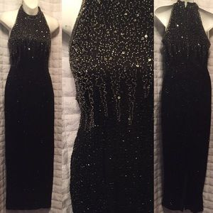Stunning vintage evening Gown beaded
