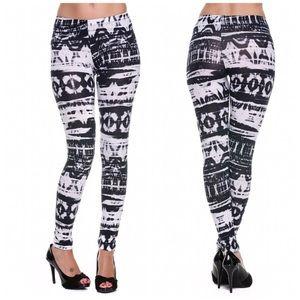 Pants - Dye Print Full Length Leggings