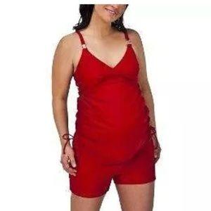 Liz Lange Maternity 2 PC Swimsuit Medium