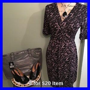 Apt. 9 Dresses & Skirts - Apt. 9 Animal Print Faux Wrap Dress