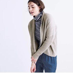 Madewell Sweaters - Madewell Horizontide Cardigan Gray Marled Smoke