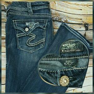 "Silver Jeans Denim - Silver Jeans Suki Flap 17"" size 30 33in"