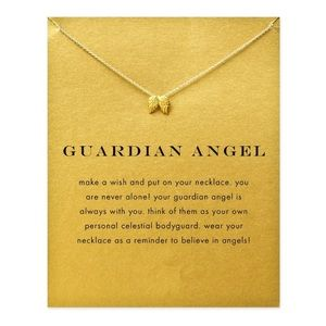 Urban Outfitters Jewelry - New💓 Guardian Angle Dogeared Style Gold Necklace